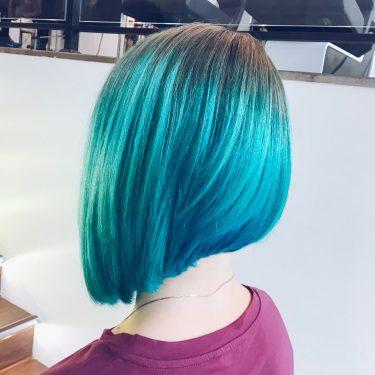Голубой, яркий, насыщенный, крутой от мастера Анны (Персона на ул.Летная)