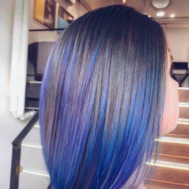 Насыщенный синий, наложенный на свой цвет — мастер Анна (Персона на ул.Летная)