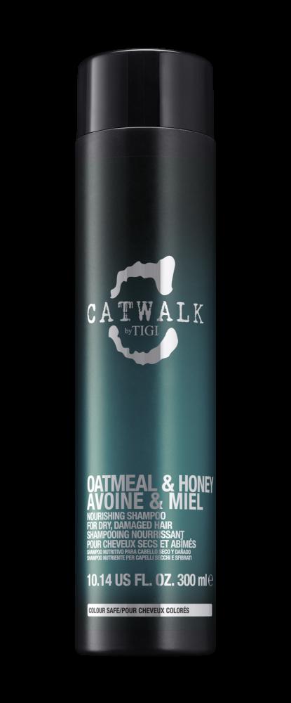 Шампунь для питания сухих и ломких волос TIGI CATWALK oatmeal & honey