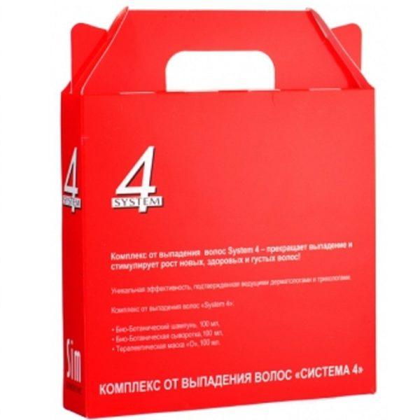 Система 4 Комплекс от выпадения волос Лечебный МИНИ (шампунь 100 мл, маска 100 мл, сыворотка 100 мл) System 4